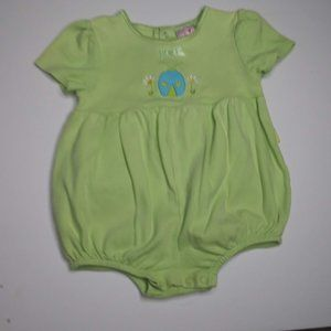 Carter's Infant Girls Green Bubble Suit Size 12 mo